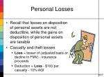 personal losses