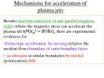 mechanisms for acceleration of plasma jets