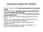 important dates for gadoe
