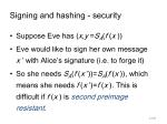 signing and hashing security
