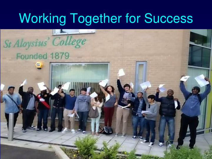 working together for success n.