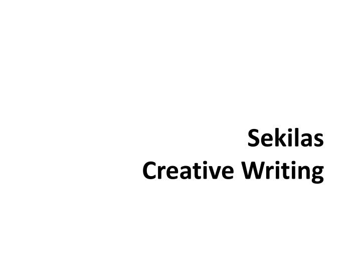 sekilas creative writing n.