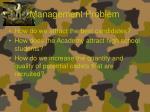management problem