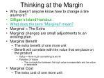 thinking at the margin