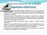 consumo racional de energ a aparatos el ctricos