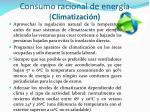 consumo racional de energ a climatizaci n