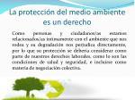 la protecci n del medio ambiente es un derecho