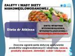zalety i wady diety niskow glowodanowej