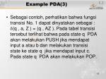 example pda 3