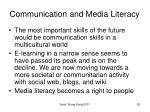 communication and media literacy