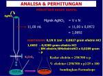 analisa perhitungan