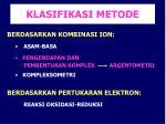 klasifikasi metode