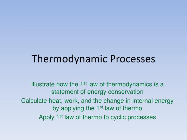 thermodynamic processes n.