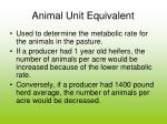 animal unit equivalent