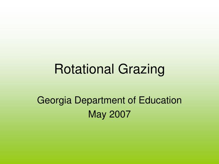 rotational grazing n.