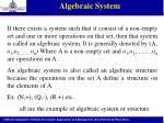 algebraic system