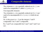 comparable elements