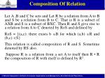 composition of relation