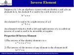 inverse element