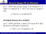 inverse image of an element