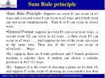 sum rule principle