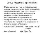 1930s present magic realism