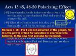 acts 13 45 48 50 polarizing effect