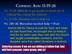context acts 11 19 262