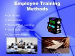 employee training methods