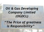 oil gas developing company limited ogdcl