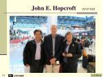 john e hopcroft