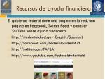 recursos de ayuda financiera
