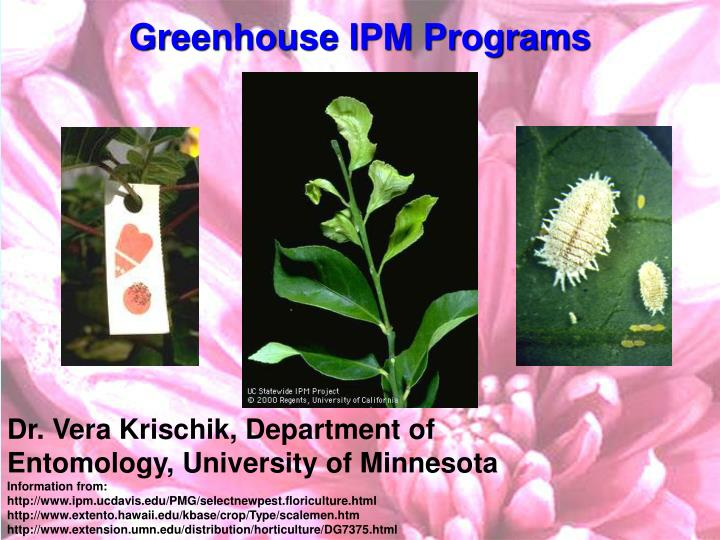 greenhouse ipm programs n.