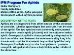 ipm program for aphids