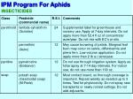 ipm program for aphids12