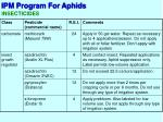 ipm program for aphids8