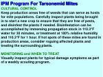 ipm program for tarsonemid mites5
