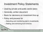 investment policy statements