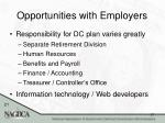 opportunities with employers