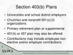 section 403 b plans