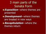3 main parts of the sonata form