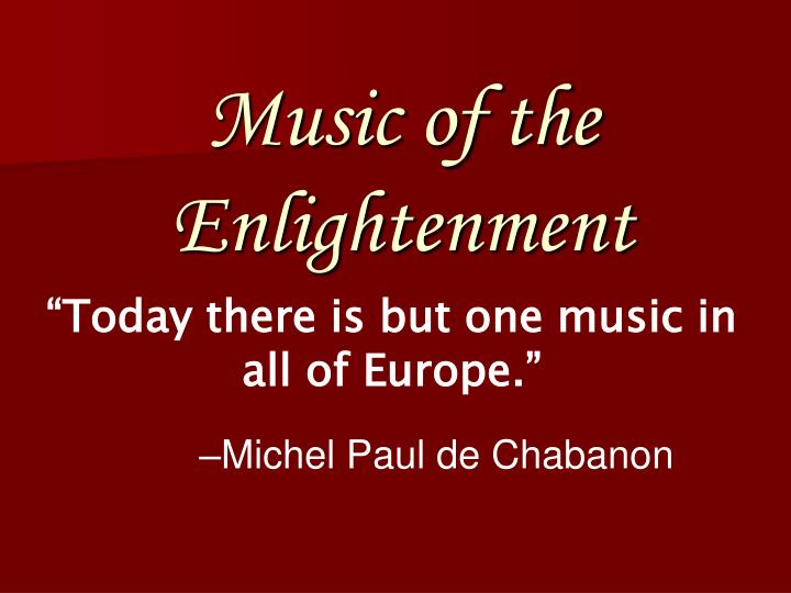 music of the enlightenment n.