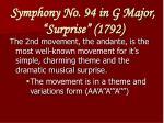 symphony no 94 in g major surprise 1792