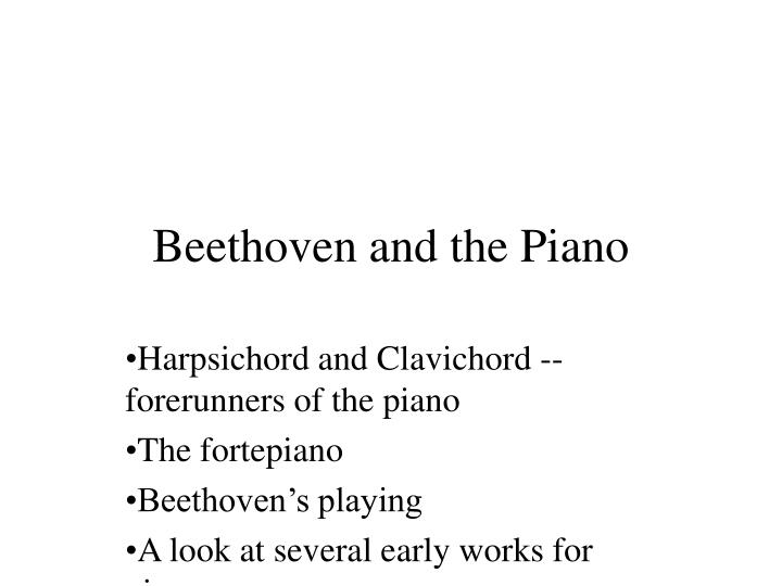 beethoven and the piano n.