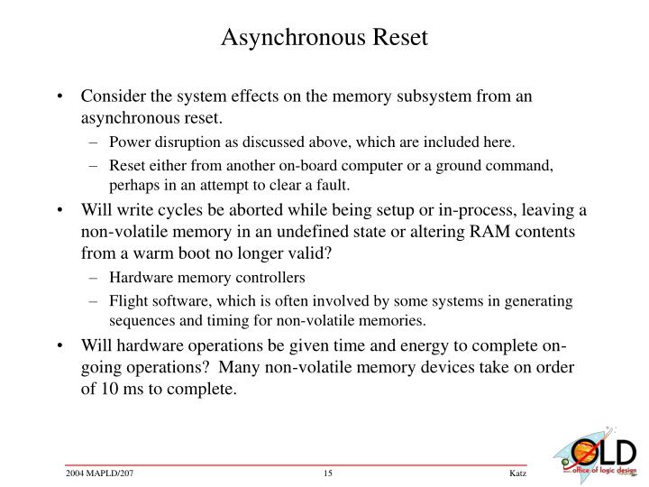 Asynchronous Reset