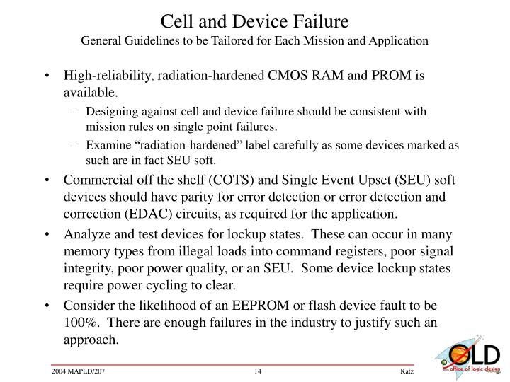 Cell and Device Failure