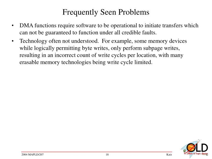 Frequently Seen Problems