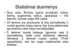 statistiniai duomenys