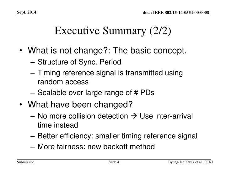 Executive Summary (2/2)
