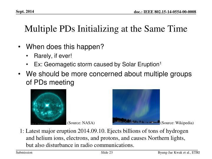 Multiple PDs
